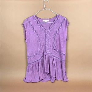 Loft shirt with crochet detail